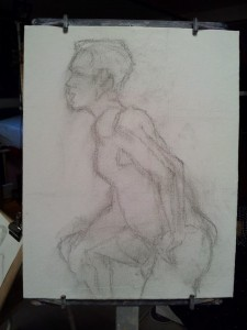 Figure, Impressionist, painting, from Life