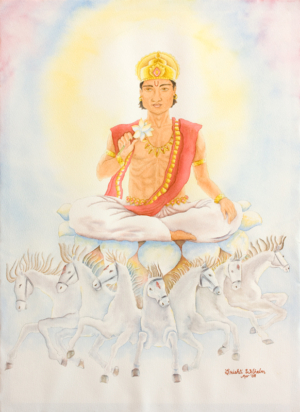 Surya- the Sun Astrological Planetary Deity