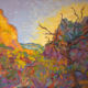 impressionistic painitng of Zion Patriarchs at dawn